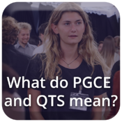 What do PGCE and QTS mean?