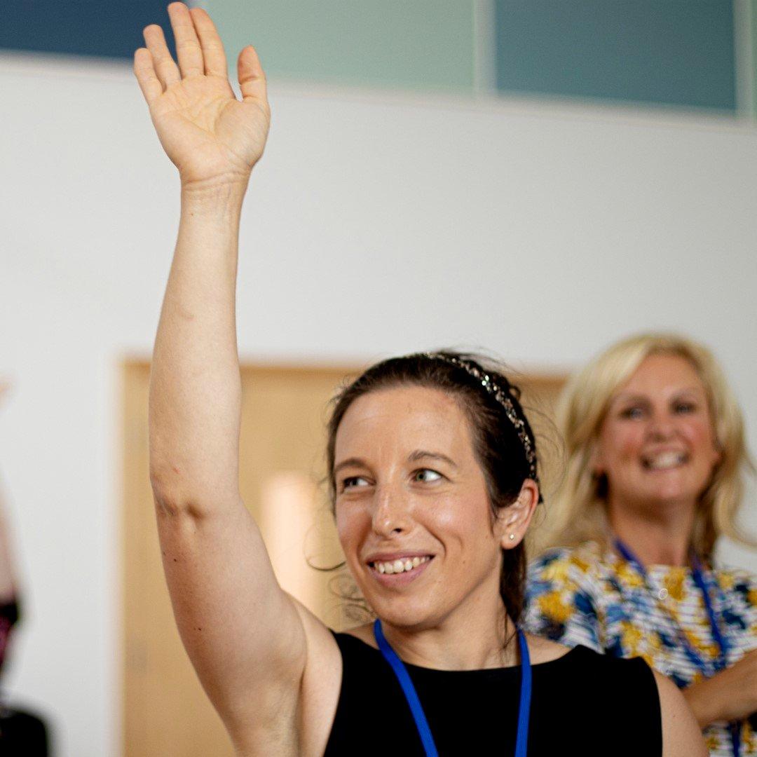Teacher hand up (Large)